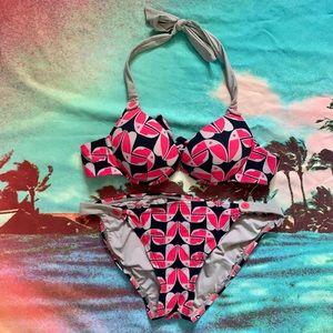 Marc Jacobs Swim red, black, and tan bikini, Sz Xs